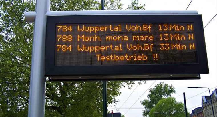 Variable Message Display VMS for traffic information and control