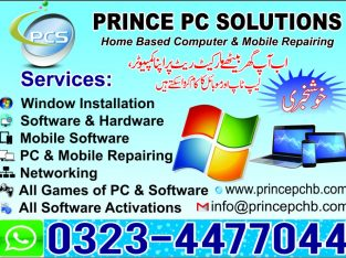 Home Based PC & Mobile repairing