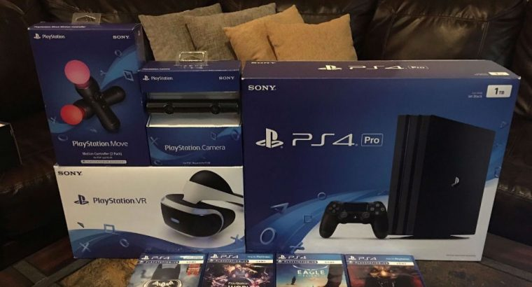 Playstation VR PS4 PRO 1TB PLUS 4 GAMES