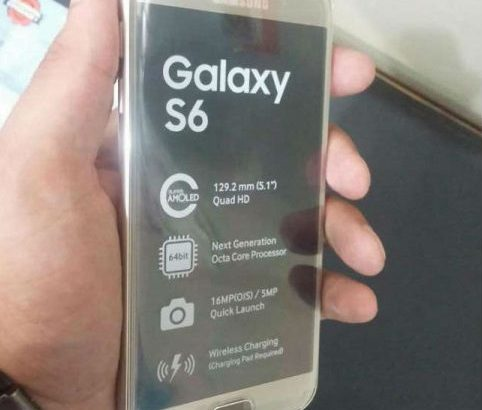 Samsung S6 Gold Edition Front