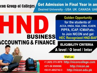 HND Business Accounting & Finance – Nicon Colleges