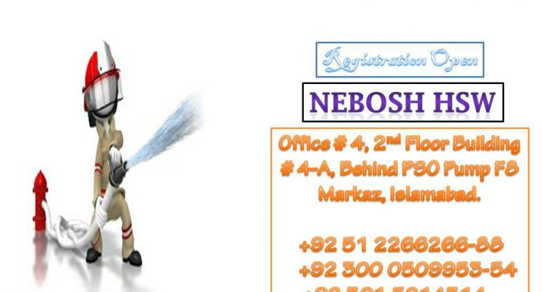Nebosh HSW Approved center in pakistan
