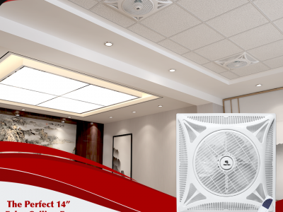 FAN PRO ENERGY SAVING 14″ 2X2 FALSE CEILING FAN